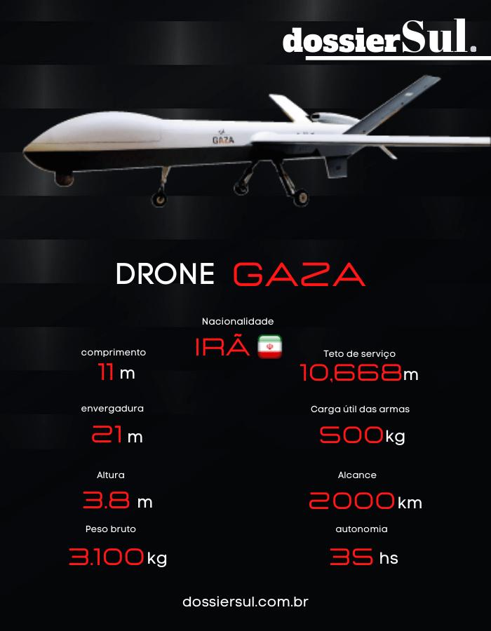 """Irã apresenta drone de reconhecimento """"Gaza"""" 1"""
